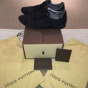 Louis Vuitton Black Suede-trimmed Mesh Initiales